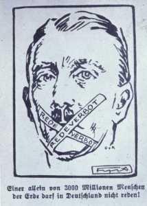 "Hitler ""stripped of his free speech,"" 1924"